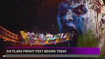 Fright Fest is kicking off this weekend at Six Flags Fiesta