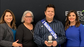 Carl Dickerson wins KENS 5 Credit Human EXCEL award for Southwest ISD