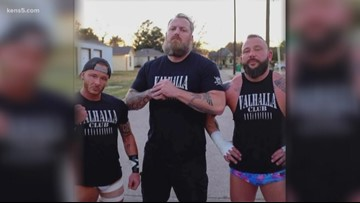Wrestling helps vets cope with PTSD