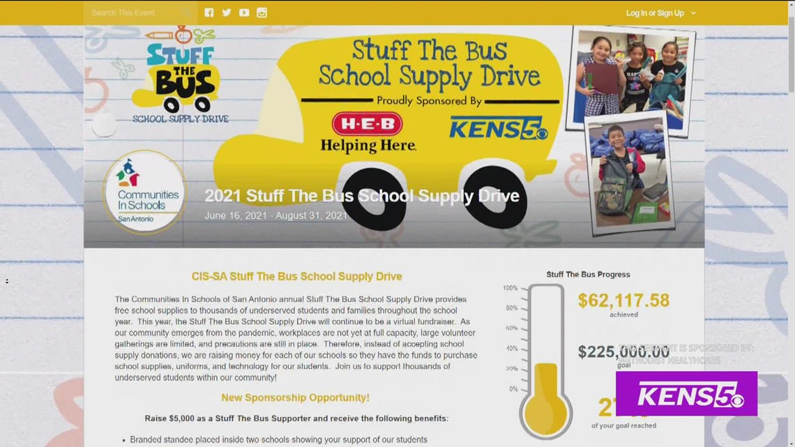 Stuff the Bus annual school supply drive is happening now