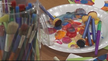 Children with cancer cope with anxiety and trauma through art therapy