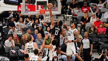 Rockets fans want the NBA to count Harden dunk or award win, but Spurs fans aren't having it