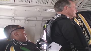 Meet the veteran who jumped out of a plane with George H.W. Bush