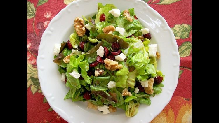 Cranberry Walnut Feta Salad