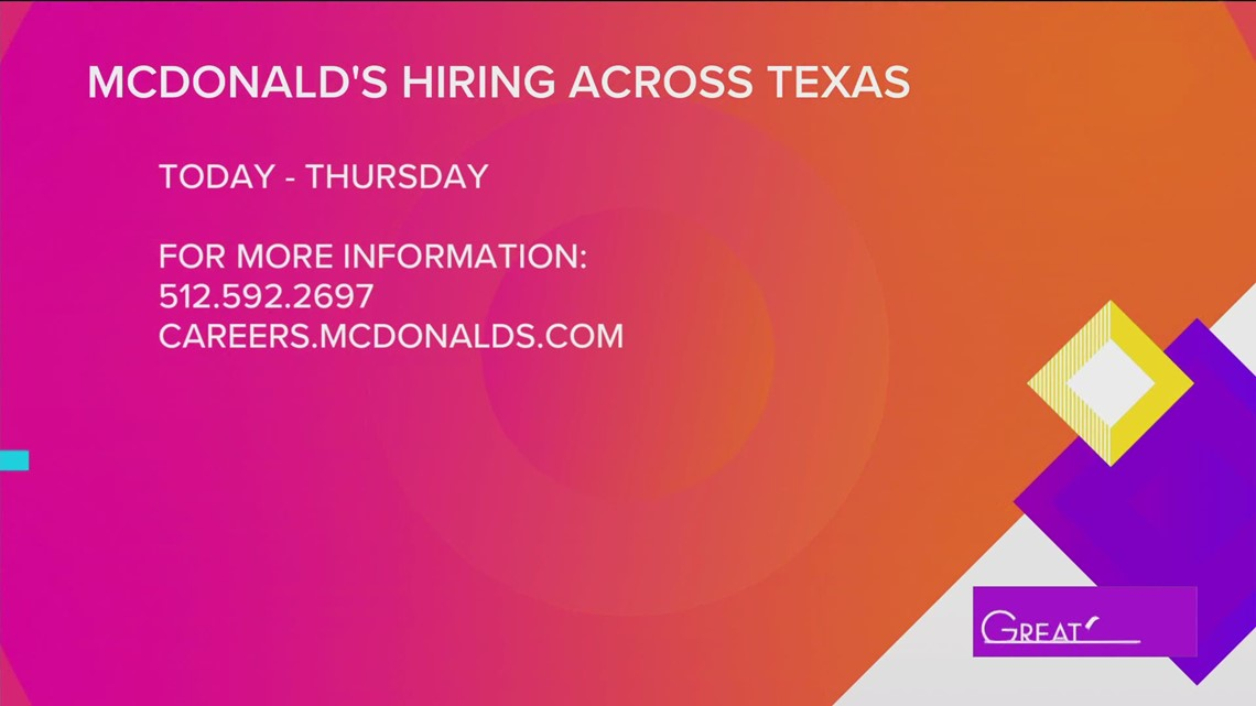 GREAT DAY SA: Who's Hiring- Mcdonald's owner Maria Acosta talks about local job openings