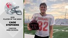 Cade Stephens leaves Canyon H.S. better place with last game approaching
