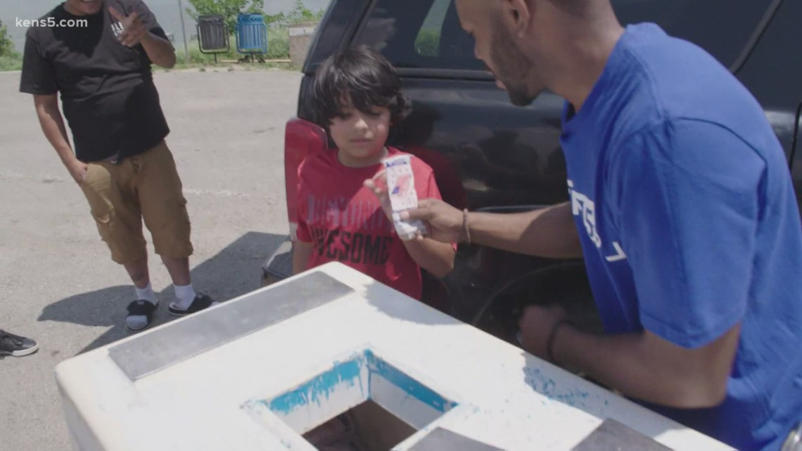 Treating San Antonio park-goers to a cool treat on a hot day | Good Things Happen