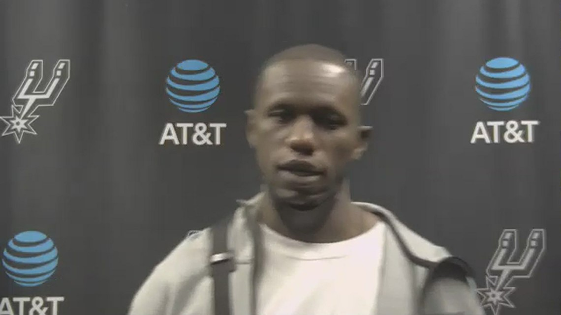 Gorgui Dieng reflects after his best game as a Spur, finishing with 17 points in 113-111 loss to Sixers