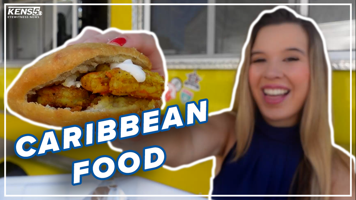 Jerk chicken and golden bakes served at Caribbean-style food truck in Texas