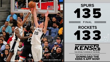 HIGHLIGHTS: Spurs come back to defeat Rockets in double overtime, 135-133