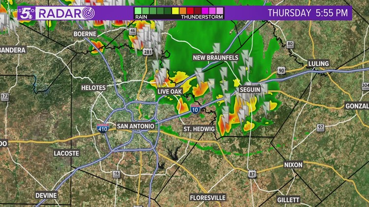 Significant Weather Advisory issued as storms march in from New Braunfels