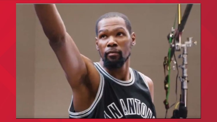 WATCH: Nets' Kevin Durant pays homage to Spurs great George Gervin