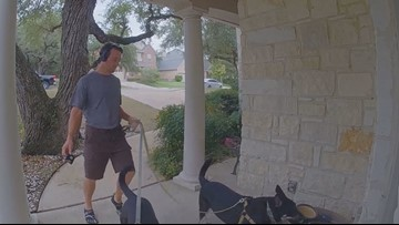 A Schertz man bought a home video camera to catch criminals. But now he's hoping to catch a good neighbor.