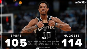 GAME BLOG: Spurs can't hang on to lead, losing 114-105