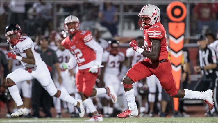 FBH Judson junior running back De'Anthony Lewis on the go against Wagner 2019