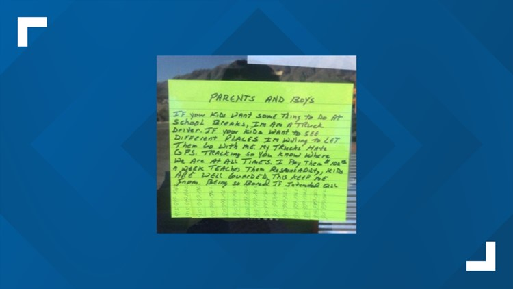 'I'm willing to let them go with me': El Paso FBI searching for person who posted flyer inviting kids to ride in their truck
