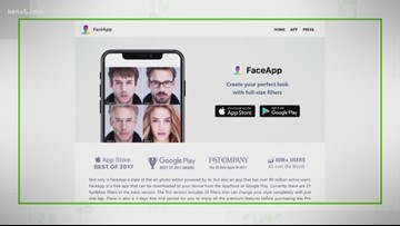 The KENS 5 jumps into the future with the help of FaceApp