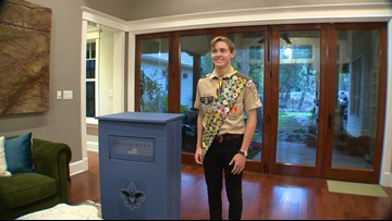 Kids Who Make SA Great: New Braunfels teen creates a flag retirement center