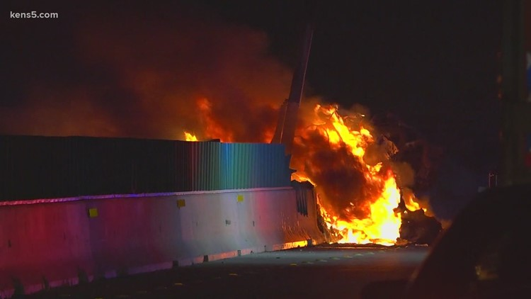 18-wheeler crashes, catches on fire on Interstate 10