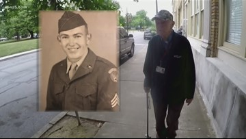 WWII veteran has volunteered at hospital for more than two decades