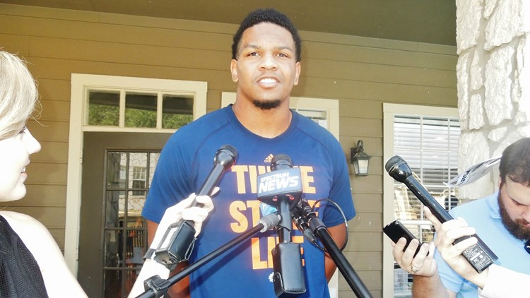 UTSA defensive end Marcus Davenport, a Stevens High School graduate, recorded 55 tackles and set school records with 17.5 tackles for loss, 8.5 sacks and eight quarterback hurries as a senior last season. Photo by David Flores / KENS5.com