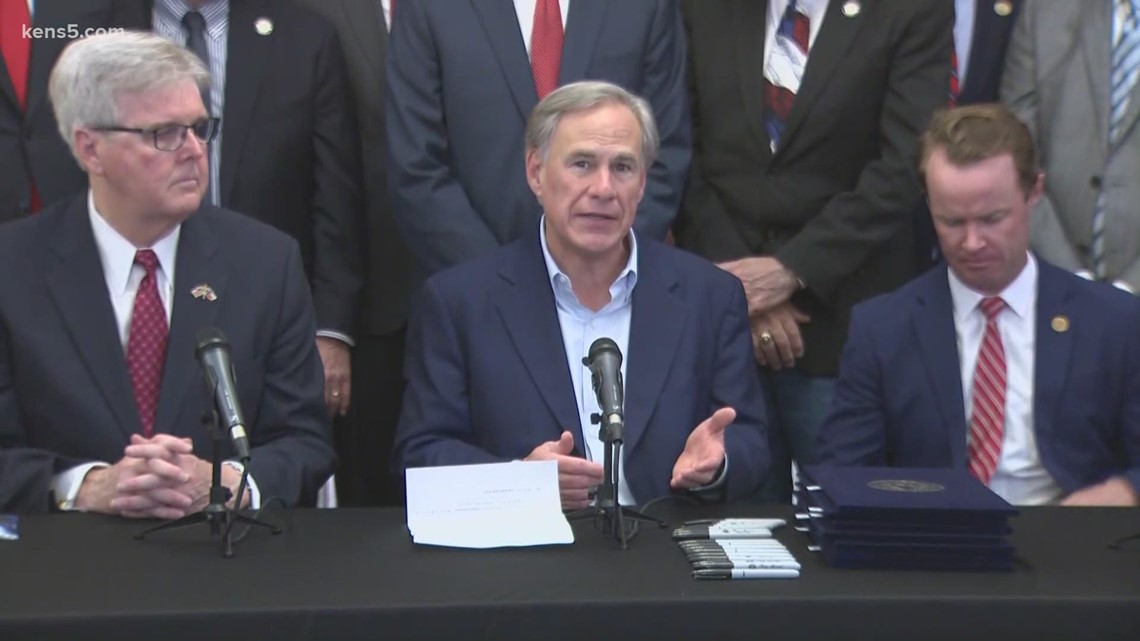 Gov. Abbott signs 'Second Amendment Legislation' at  Alamo Hall