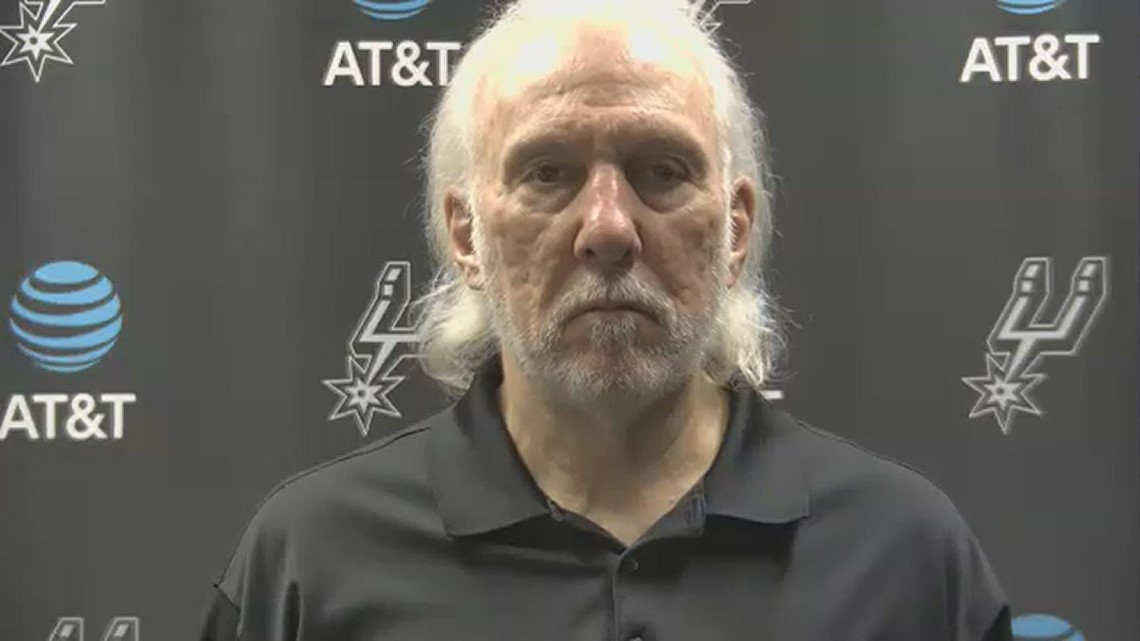 Coach Popovich applauds his team's effort after Spurs lose to Sixers in overtime 113-111