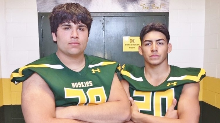 FBH Holmes junior offensive lineman Kevin Godinez and senior strong safety David Cantu