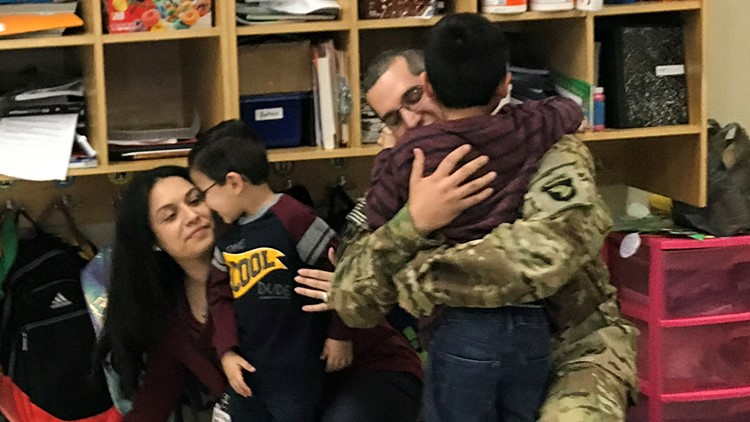 Wishful sons get storytime surprise from deployed father