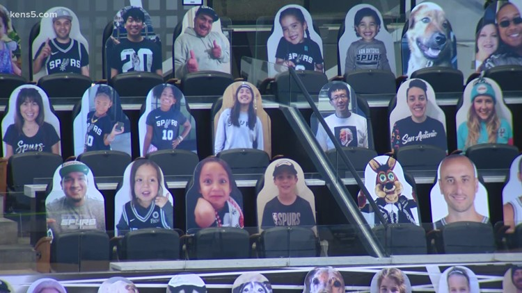 Spurs host 1,000 hometown heroes for game against Thunder as team prepares to welcome back fans