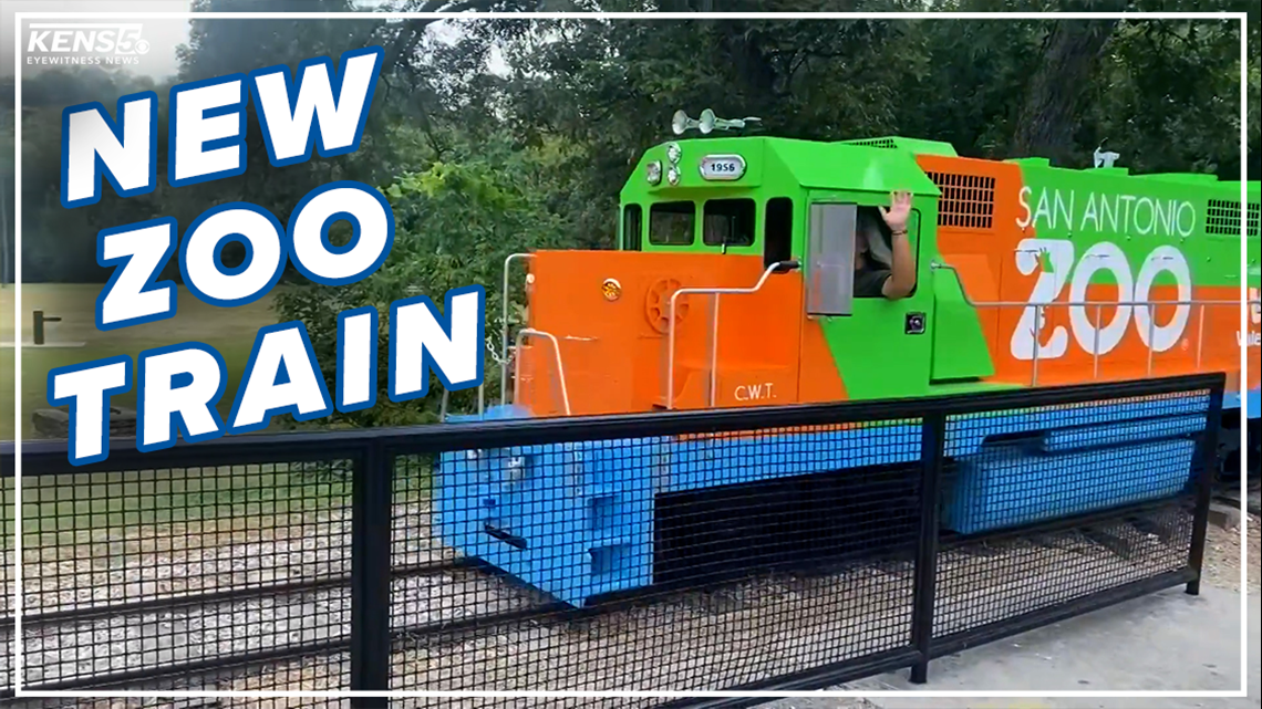 San Antonio Zoo introduces new train using gas donated from Valero