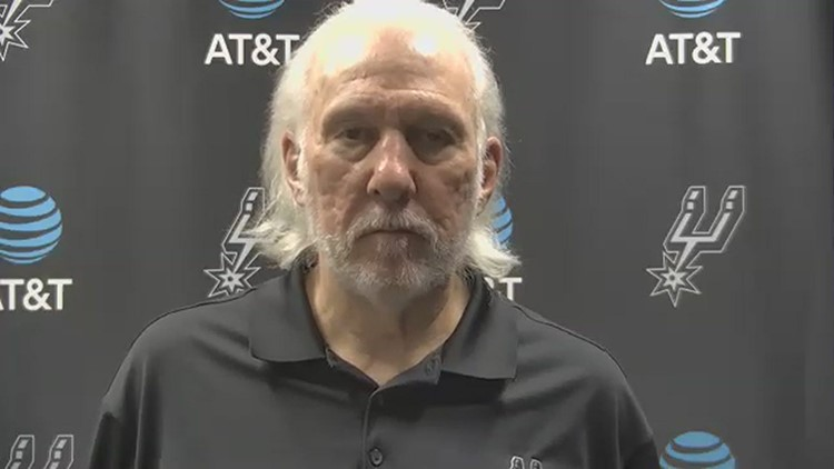 Coach Popovich reacts after Spurs fall to Trail Blazers 107-106
