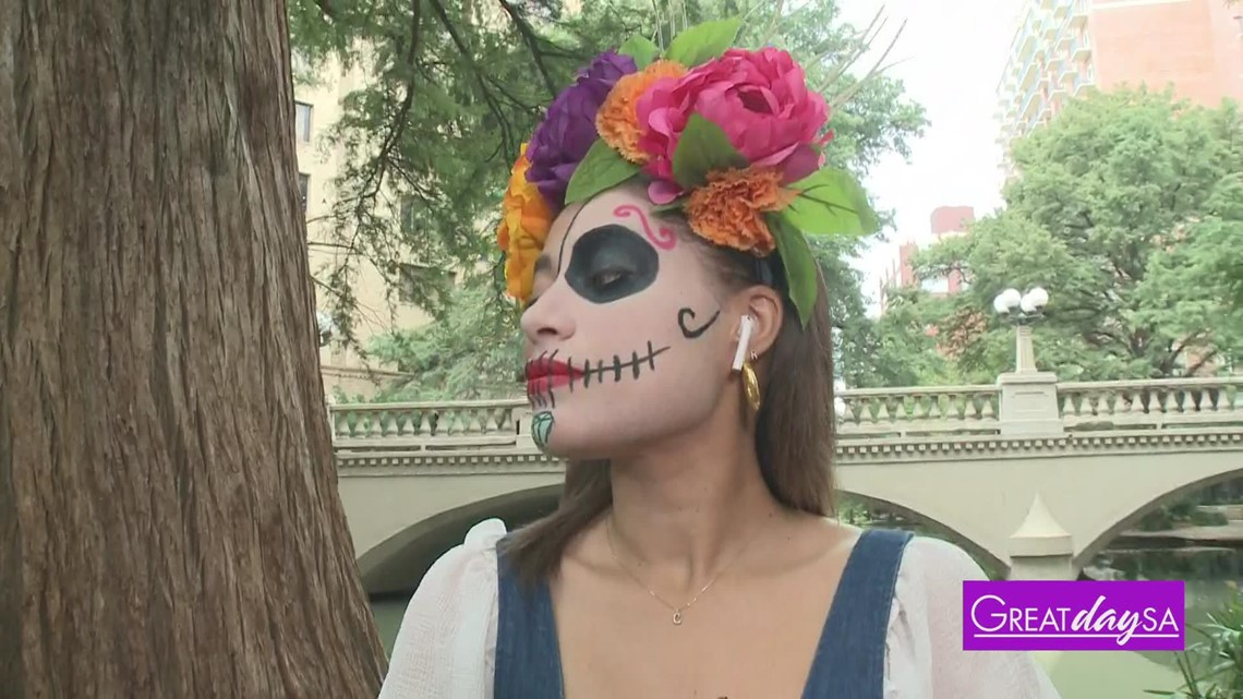 How to create a half-face Dia De Los Muertos makeup look