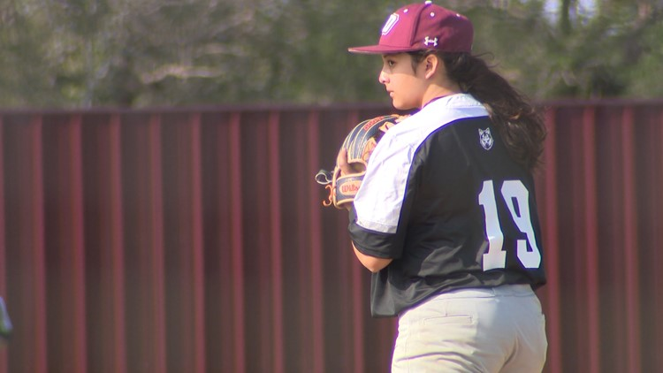 This freshman needed a bigger challenge than softball. So she joined the baseball team.