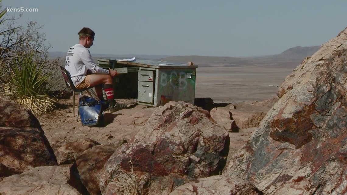 The story behind 'The Desk' sitting atop a west Texas hill