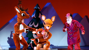 Rudolph the Red-Nosed Reindeer is flying into the Tobin Center