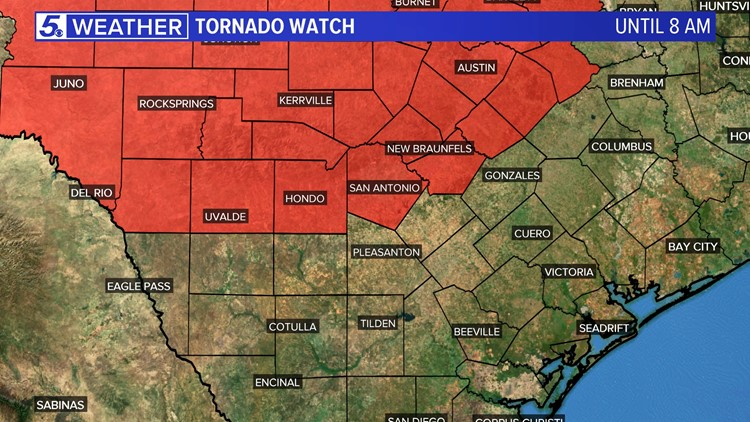 Tornado Watch Issued For San Antonio Can Indicate Storms During Easter Sunday