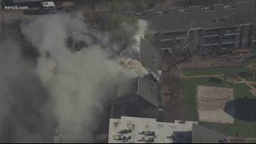 Firefighters battle fire at apartment complex on the northeast side
