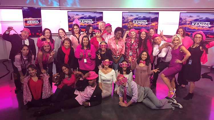 KENS 5 team supports Real Men Wear Pink