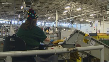Inside the USPS distribution center on one of its busiest days