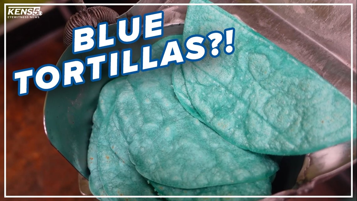 Blue, pink tortillas made at San Antonio business   A look at how they make them