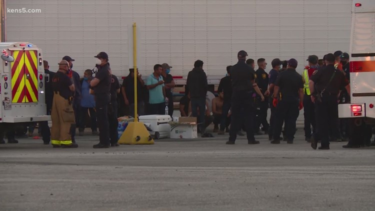 Man facing human smuggling charges after dozens of migrants took off from 18-wheeler; 41 detained