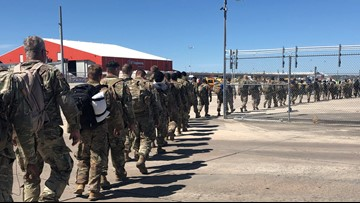 Bad weather diverts hundreds of El Paso-bound National Guard troops to San Antonio