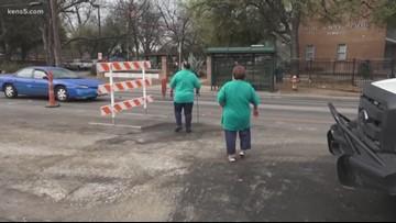Pedestrians getting a fix for dangerous street