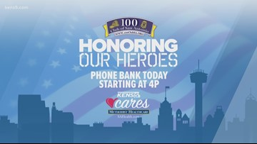 Honoring Our Heroes | KENS 5 hosts phone bank for 100 Club