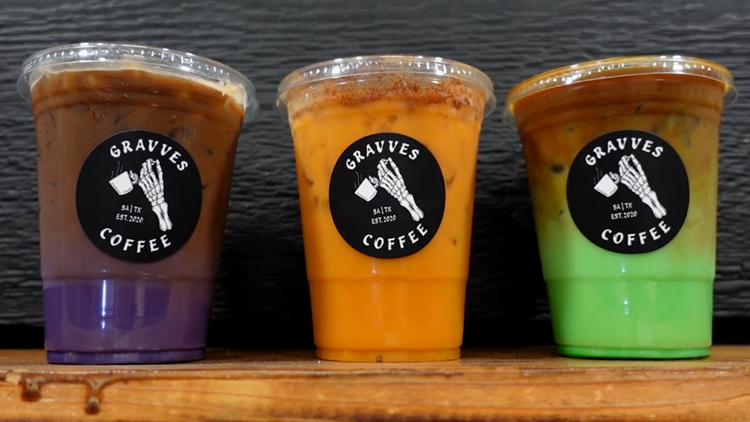 'The colors are pretty' | Exclusive look inside new Gravves Coffee trailer, bright caffeinated drinks
