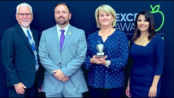 Lori Rogers wins KENS 5 Credit Human EXCEL award for Boerne ISD