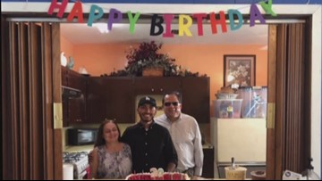 Blind couple provides loving home for adopted son