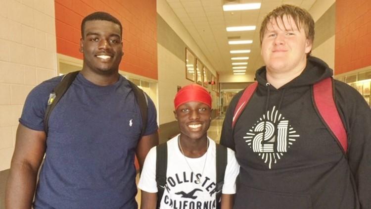 FBH Judson junior Bryce Wisdom with teammates Kamron Scott Robert Rigsby