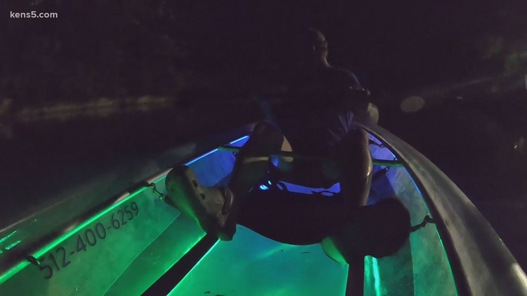 Here's what it's like to kayak at night in Texas